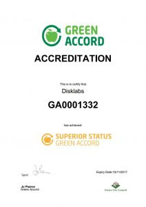 Green Accord Certificate